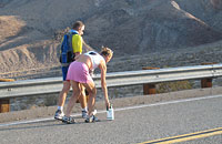 Lisa Smith-Batchen and Scott Morgan on Towne's Pass. 27 July 2007.