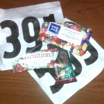 Race numbers and race food