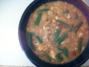 Cannelini beans with veggies